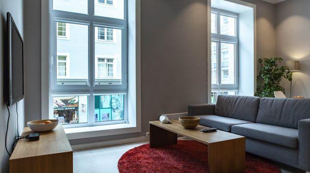 Living room at Markeveien 3 Apartments, Engen, Bergen