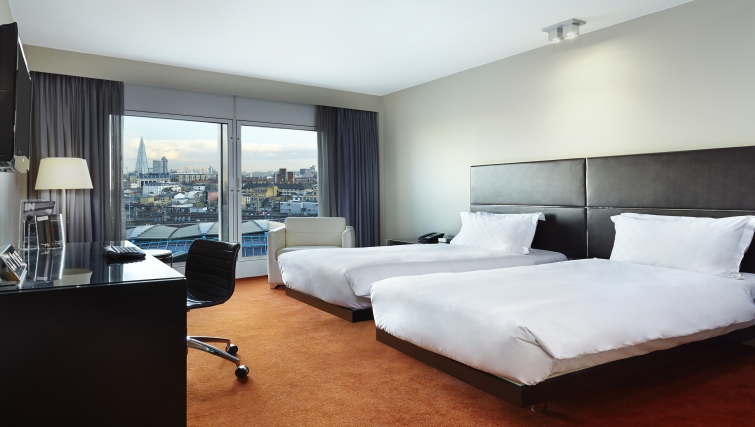 Plush bedroom in Park Plaza Westminster Bridge Apartments