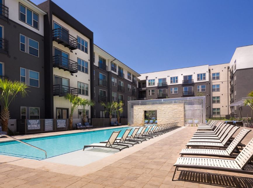 Swim at Gallery at Domain Apartment, Round Rock, Austin