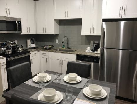 Kitchen at Gallery at Domain Apartment, Round Rock, Austin