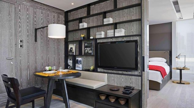 Living area at The Jervois Apartments, Sheung Wan, Hong Kong