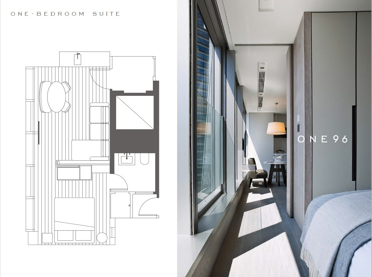 Floor plan at One96 Apartments, Sheung Wan, Hong Kong