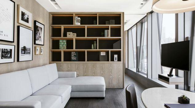 Living Room at Queens Road Apartments, Sheung Wan, Hong Kong
