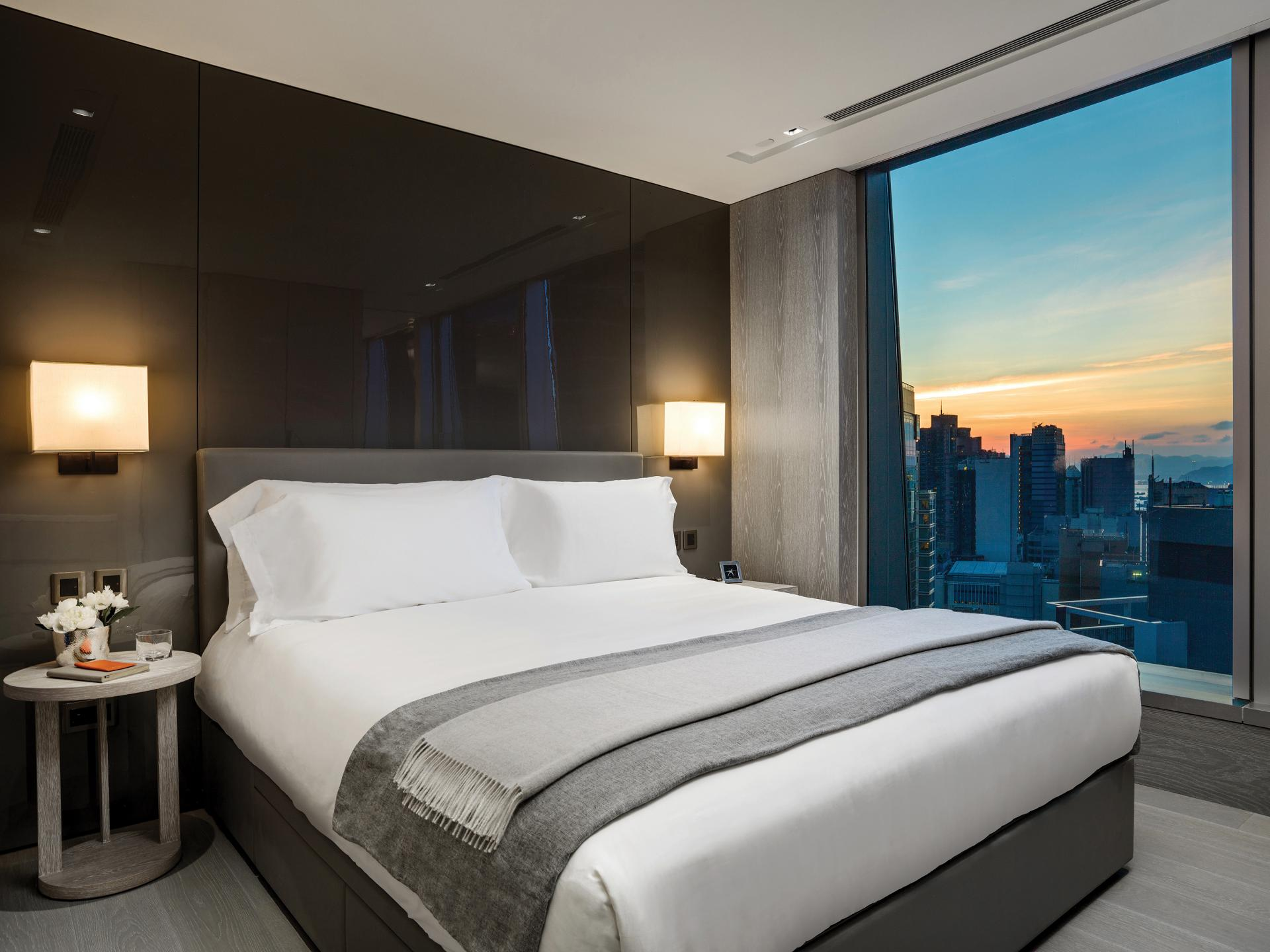Bedroom at Queens Road Apartments, Sheung Wan, Hong Kong