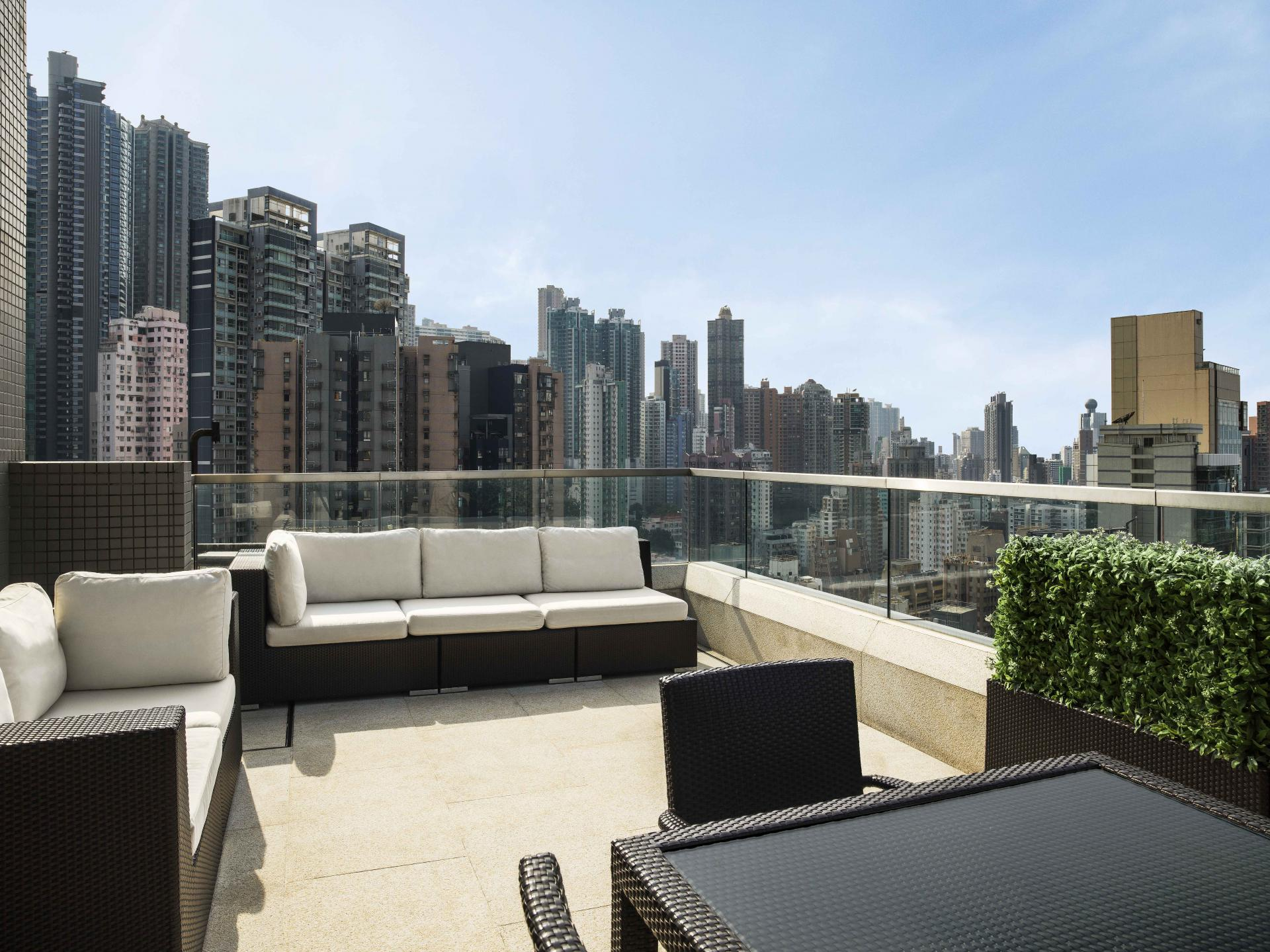 View at Queens Road Apartments, Sheung Wan, Hong Kong