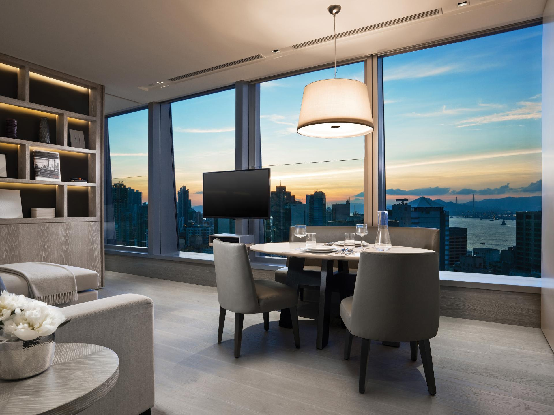 Dining area at Queens Road Apartments, Sheung Wan, Hong Kong