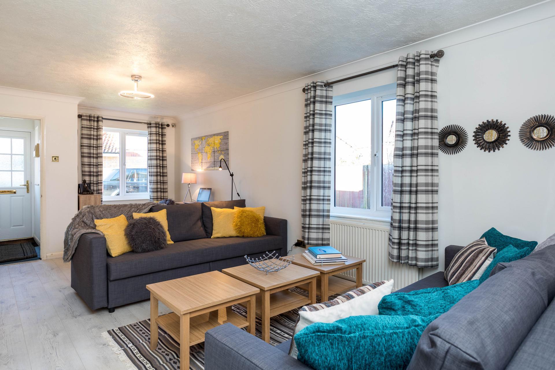 Living room at Graveney House, Maidenbower, Crawley