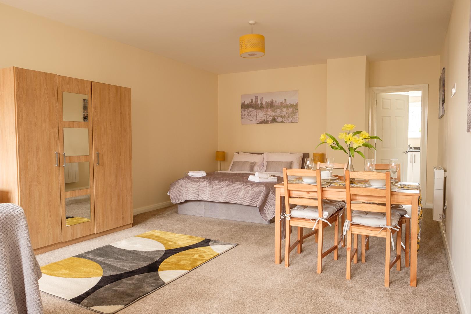 Bed at Broadwalk Apartment, Centre, Crawley