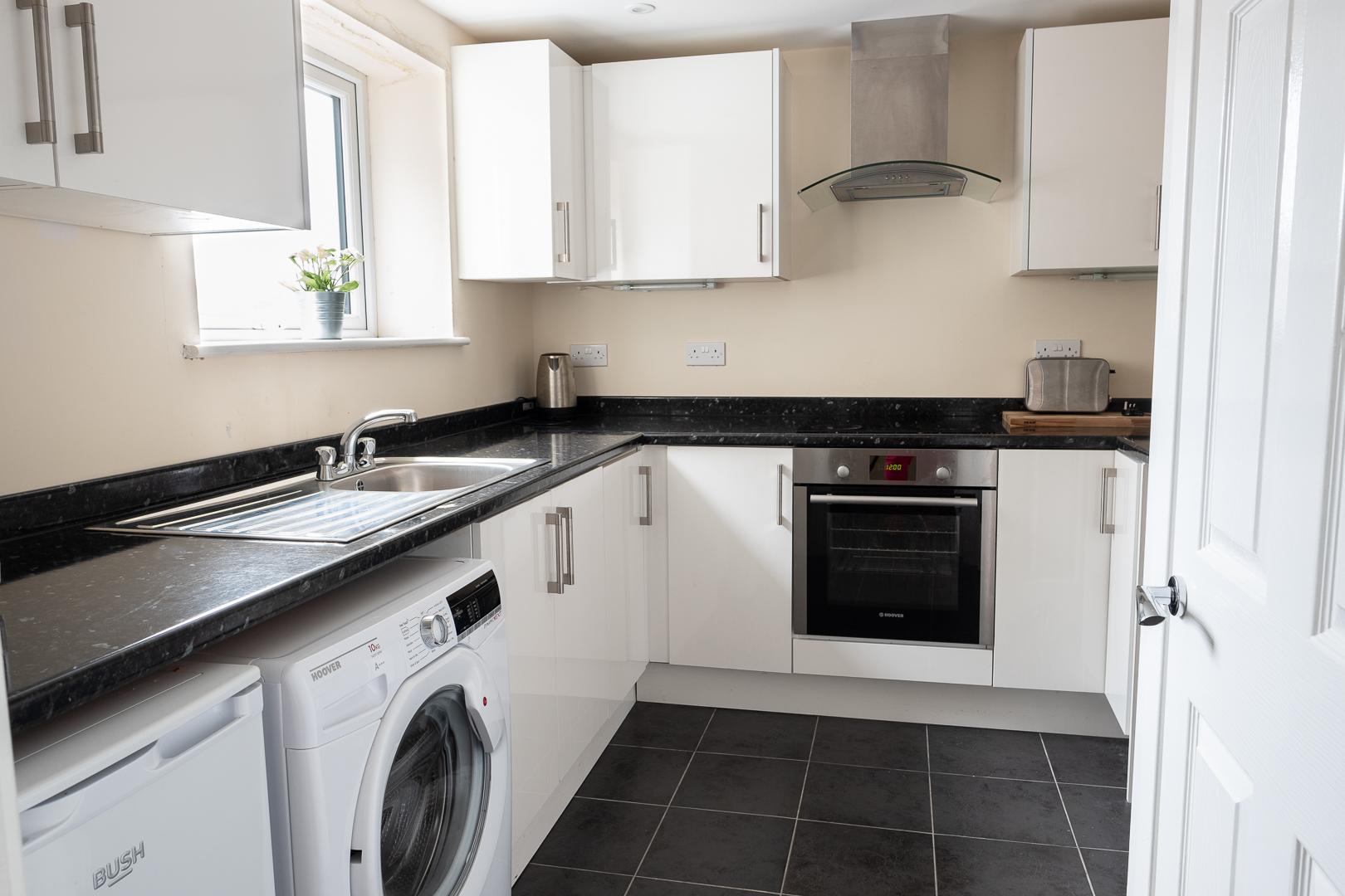 Kitchen at Broadwalk Apartment, Centre, Crawley