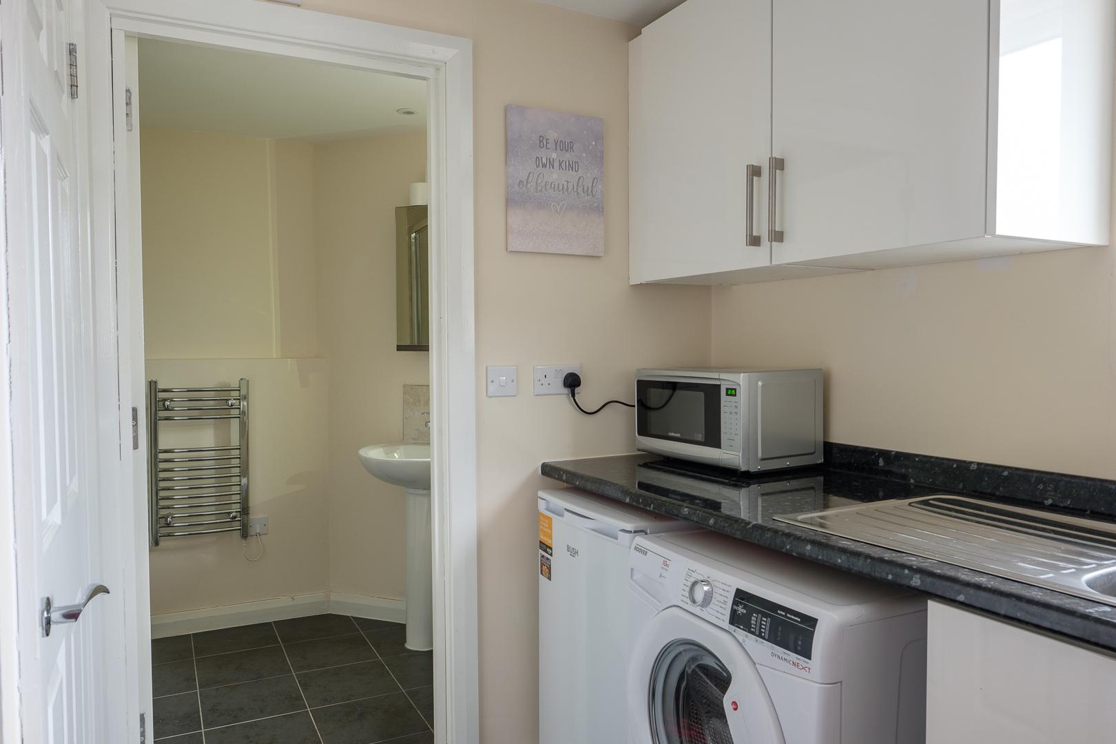 Washing machine at Broadwalk Apartment, Centre, Crawley