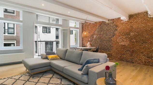 Living area at VIP Central Amsterdam Apartment, De Wallen, Amsterdam