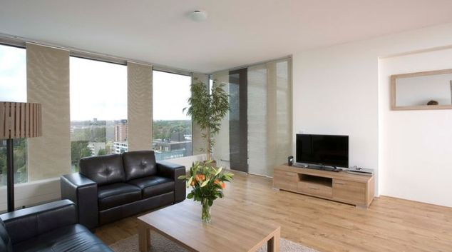 Living room at Koningin Wilhelminaplein Apartments, Andreas Ensemble, Amsterdam