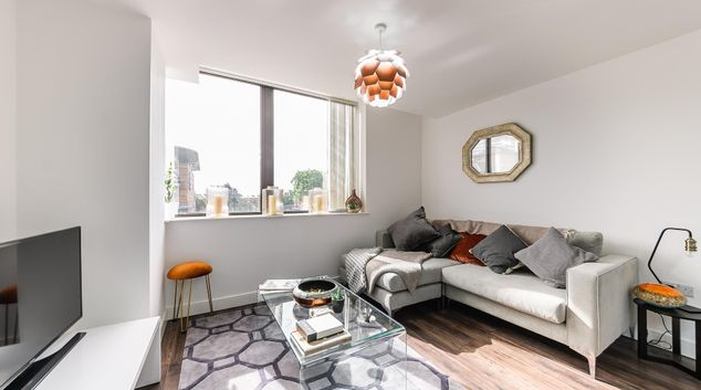 Living area at Broadway Residence, Ladywood, Birmingham