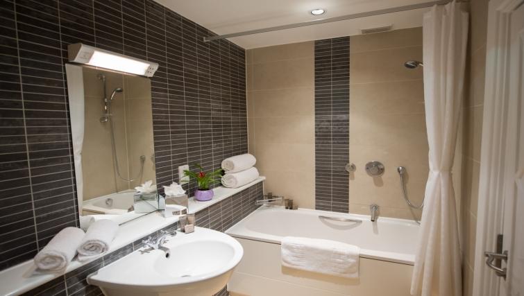 Modern bathroom at Dolphin House