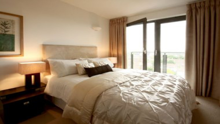 Plush bedroom in Slough Mosaic Apartments