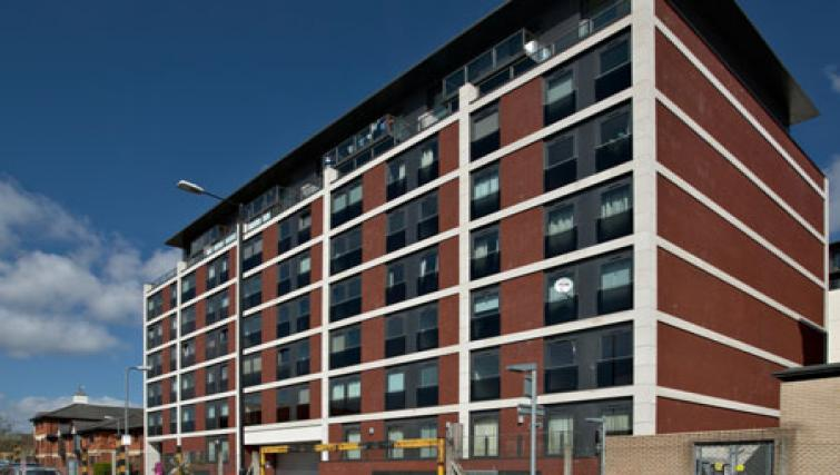 Exterior of Slough Mosaic Apartments