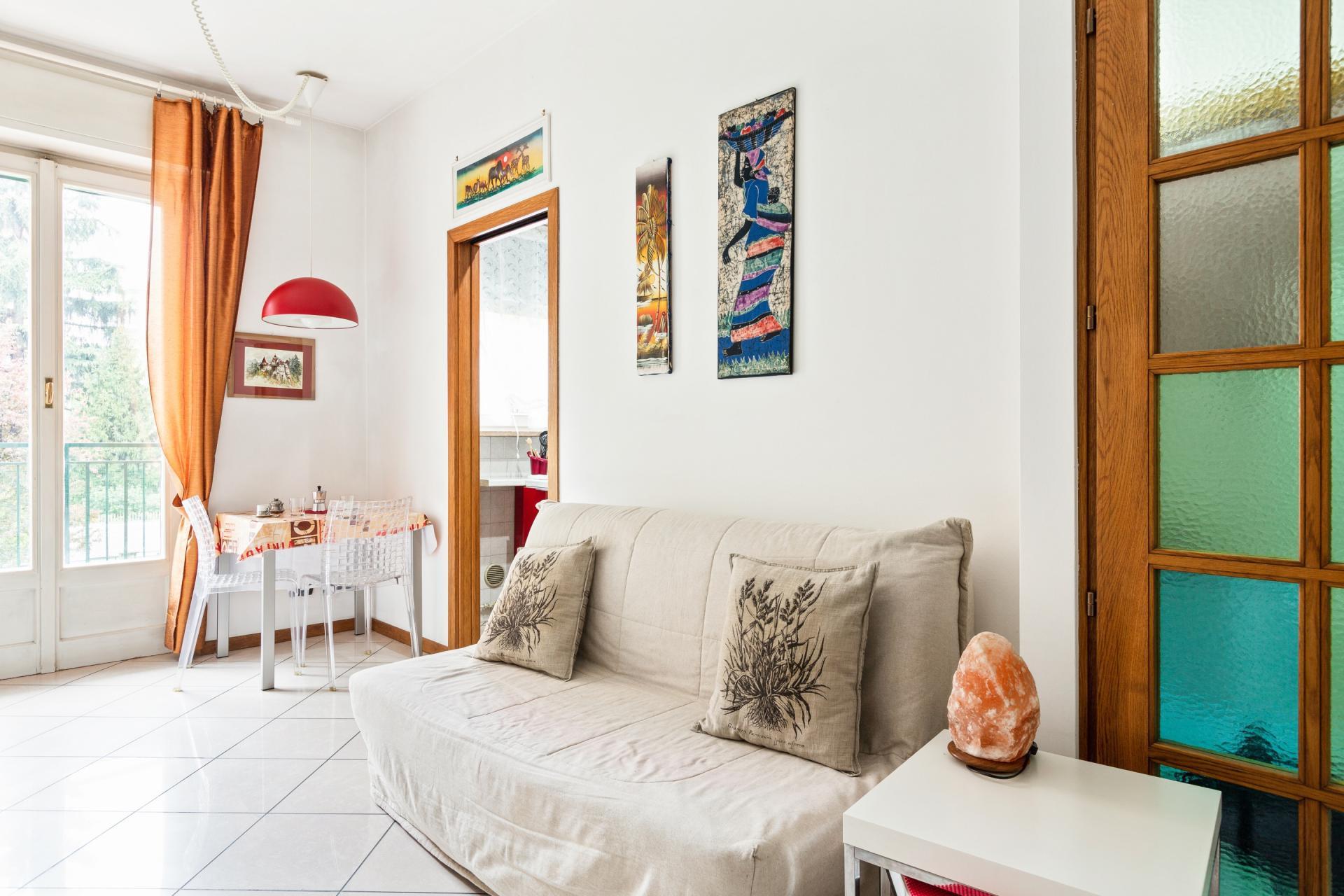 Living room at Siena Apartment, De Angeli, Milan
