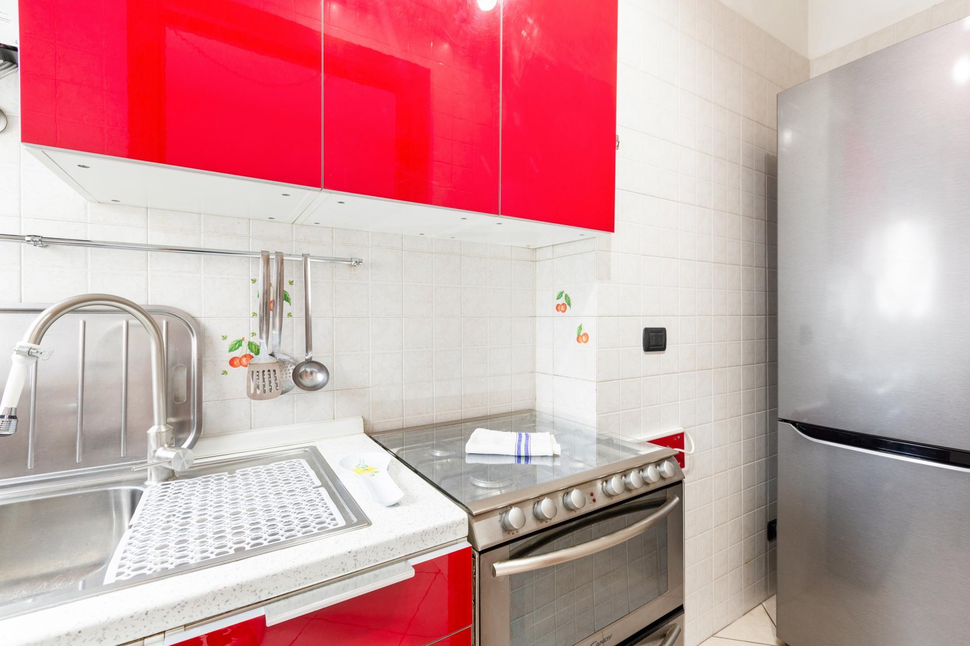 Kitchen at Siena Apartment, De Angeli, Milan