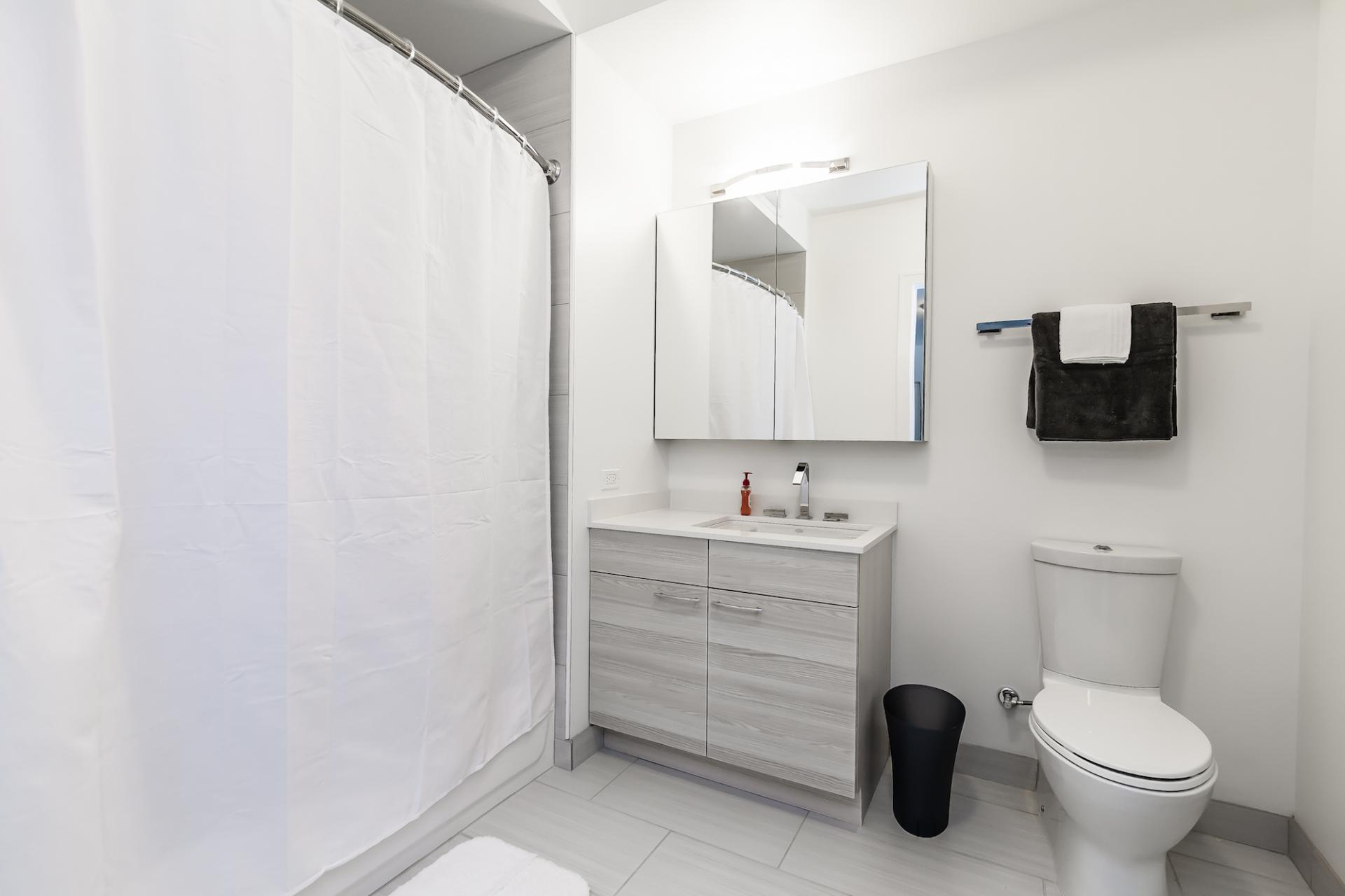 Bathroom at 73 Lake Apartments, New East Side, Chicago