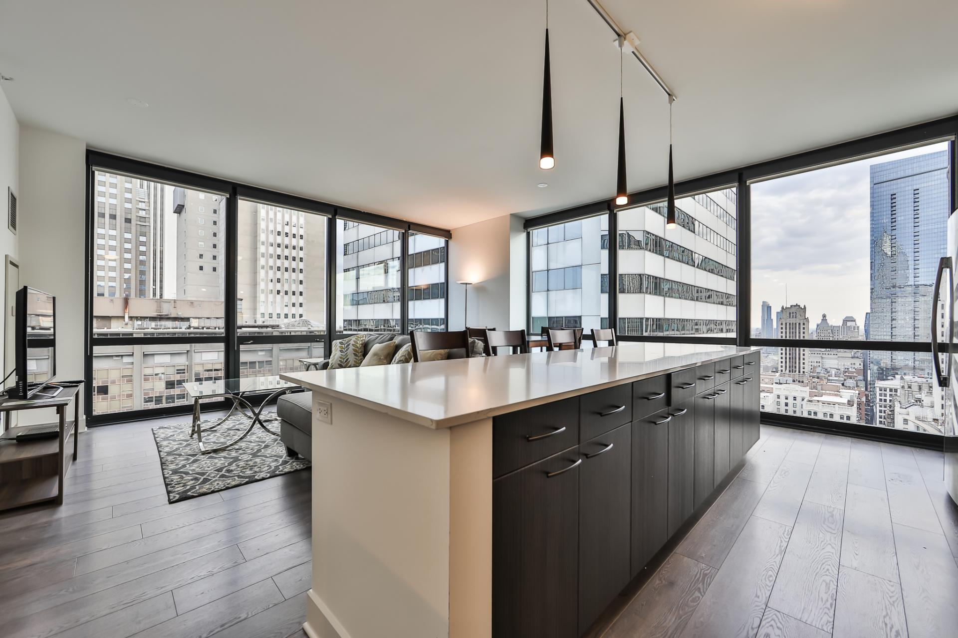 Open-plan at 73 Lake Apartments, New East Side, Chicago