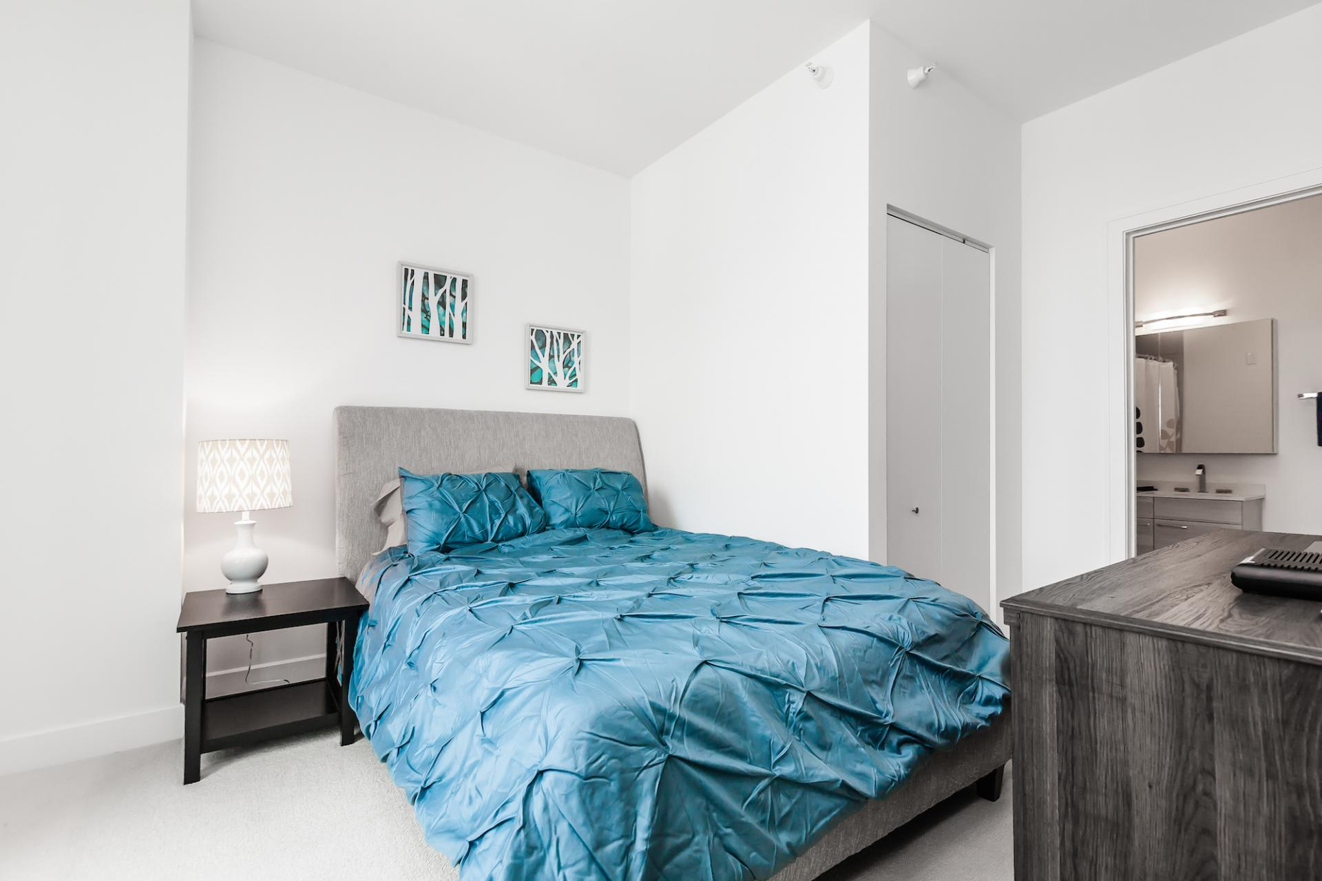 Bedroom at 73 Lake Apartments, New East Side, Chicago