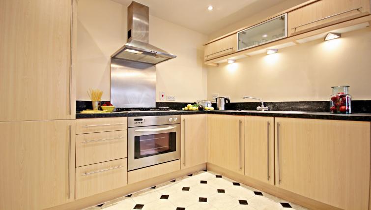 Kitchen at Barkham Mews Apartments