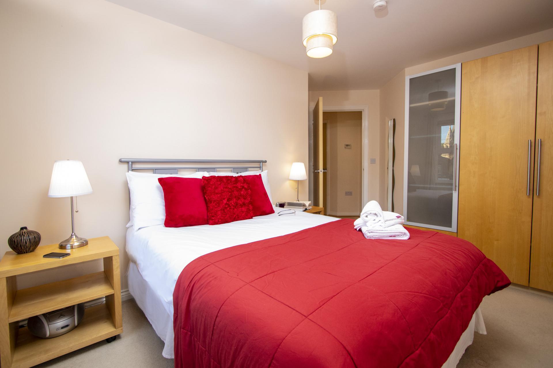 Single bedroom at Barkham Mews Apartments