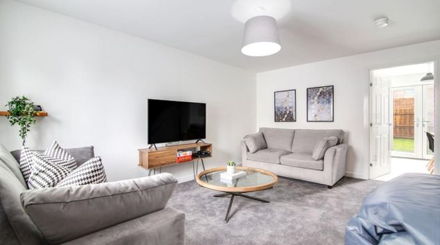 Living area at Mull Croft House, Kingshurst, Birmingham
