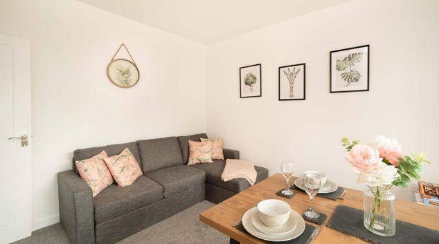 Living area at Harborne Park House, Harborne, Birmingham