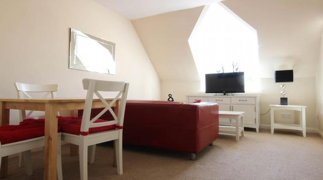 Bright living area in Alexandra Court Apartments
