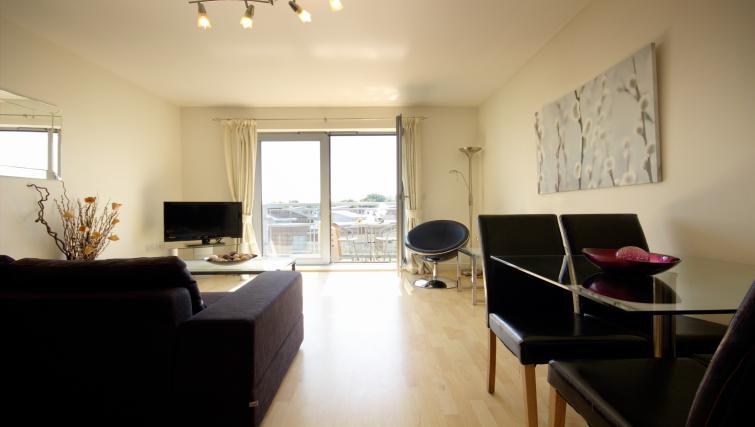Living area at Kelvin Gate