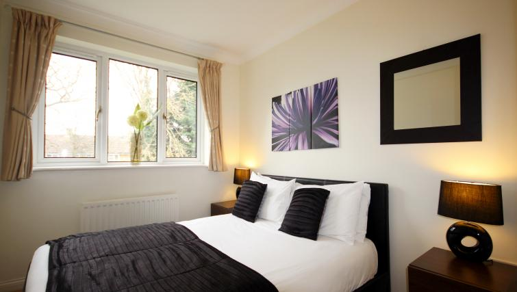 Double bed at Gray Place Apartments