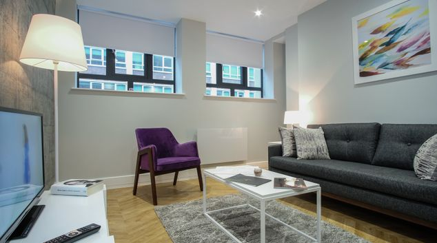 Living area at Newhall Street, Centre, Birmingham