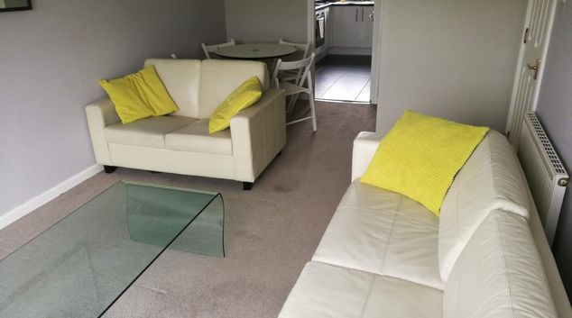 Living Room at Glasgow Pacific Quay Apartments, Kinning Park, Glasgow