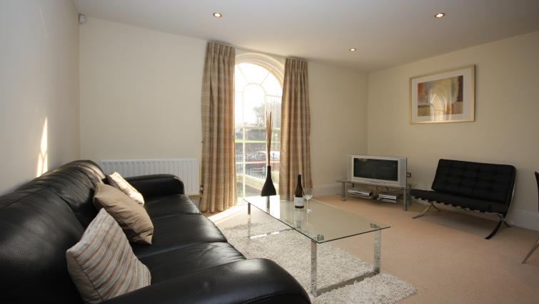 Living area at Eldon Lodge Apartments