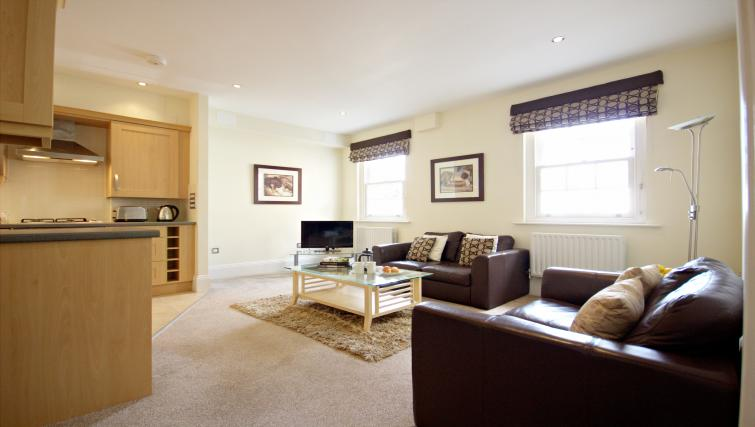 Living room at Eldon Lodge Apartments