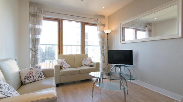 Living Room at Glasgow Skyline Apartments, Centre, Glasgow