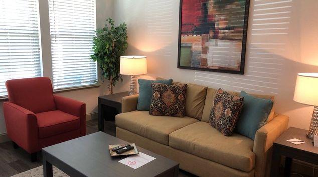 Living area at The Loree Apartments, Secret Cove, Jacksonville