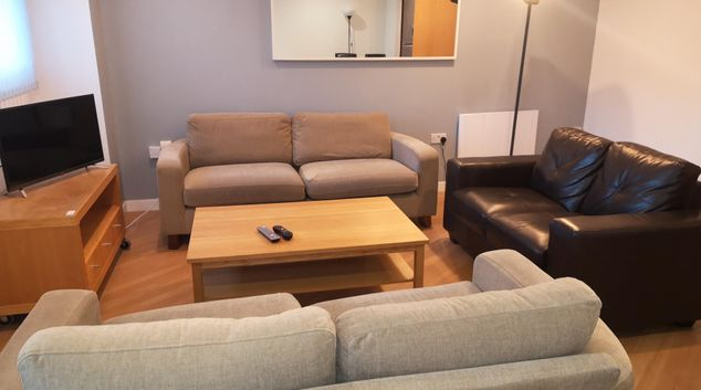 Living Area at Glasgow Central River Apartments, Centre, Glasgow