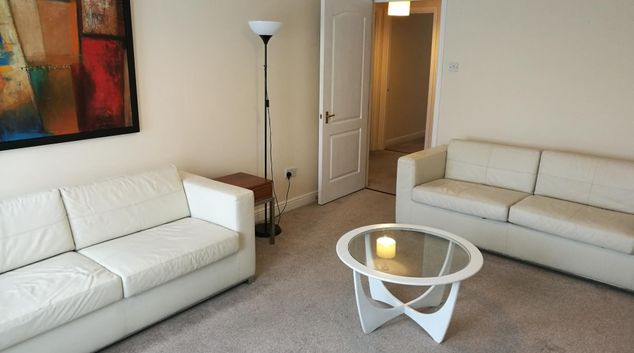 Living room at Glasgow Finnieston Apartment, Finnieston, Glasgow