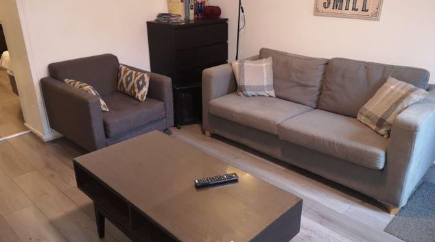 Living room at Glasgow Hampden Garden Apartment, Mount Florida, Glasgow