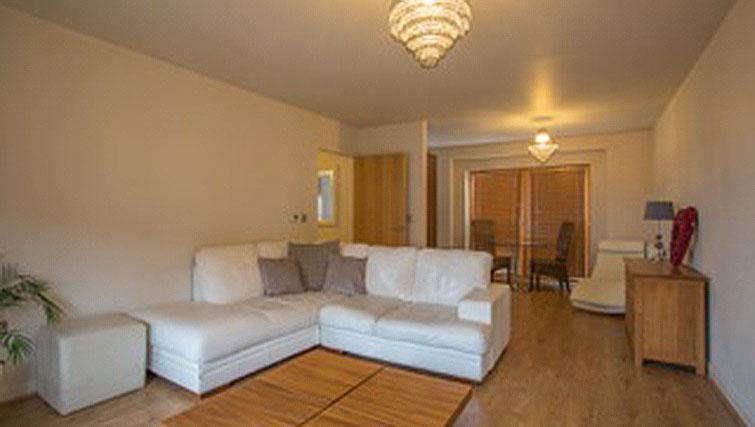 Living space at Hercules Apartments