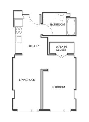 Floor plan of Mission Place at Trinity Place, Theatre District, San Francisco