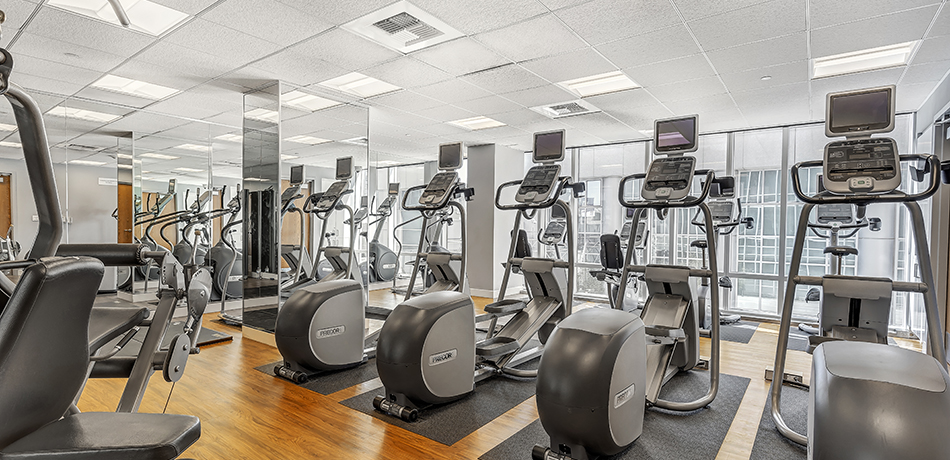Gym at Mission Place at Trinity Place, Theatre District, San Francisco
