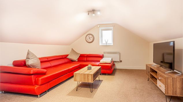 Lounge at Carriage Court Apartment, Centre, Worcester