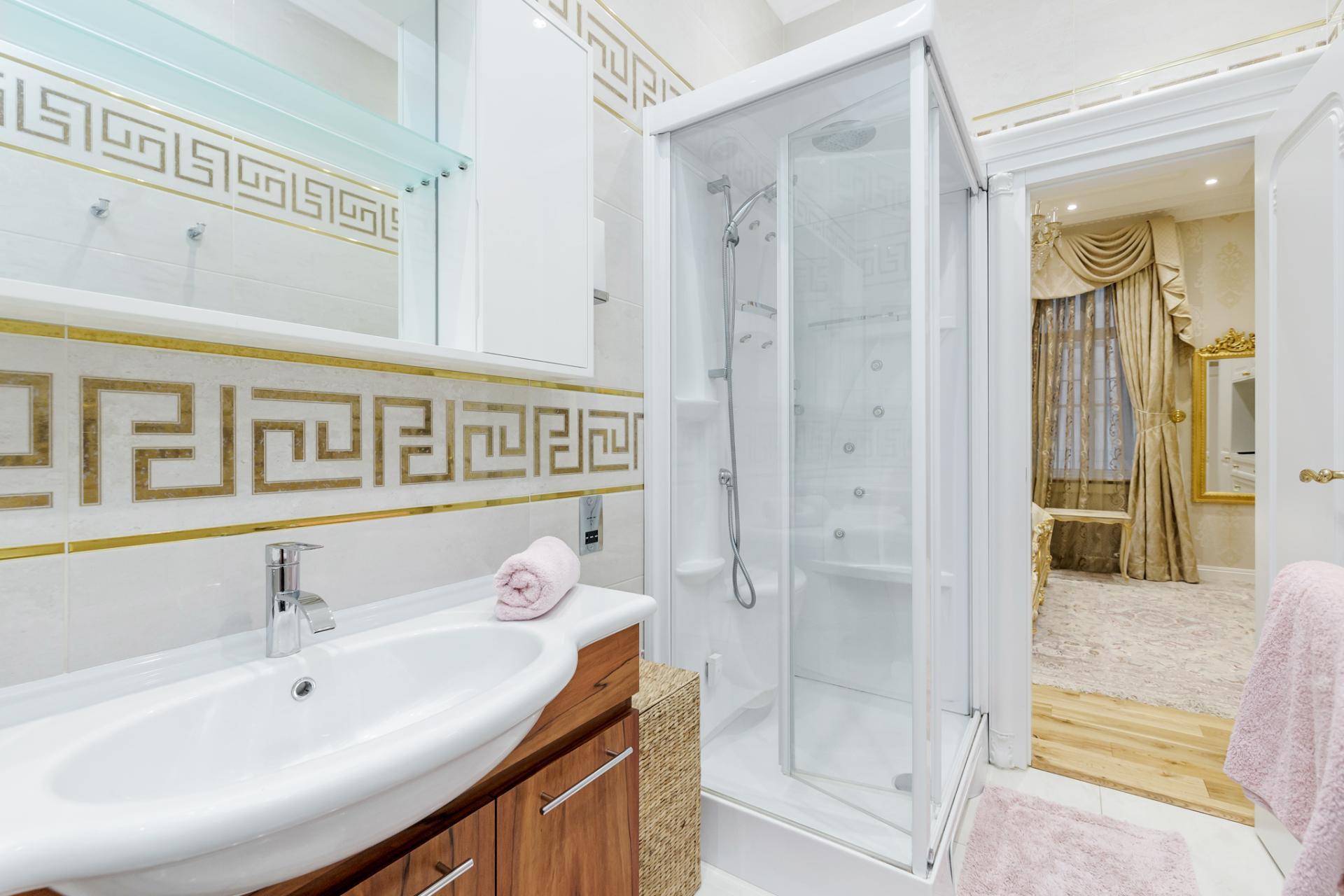 Shower at Grosvenor Square Apartment, Mayfair, London