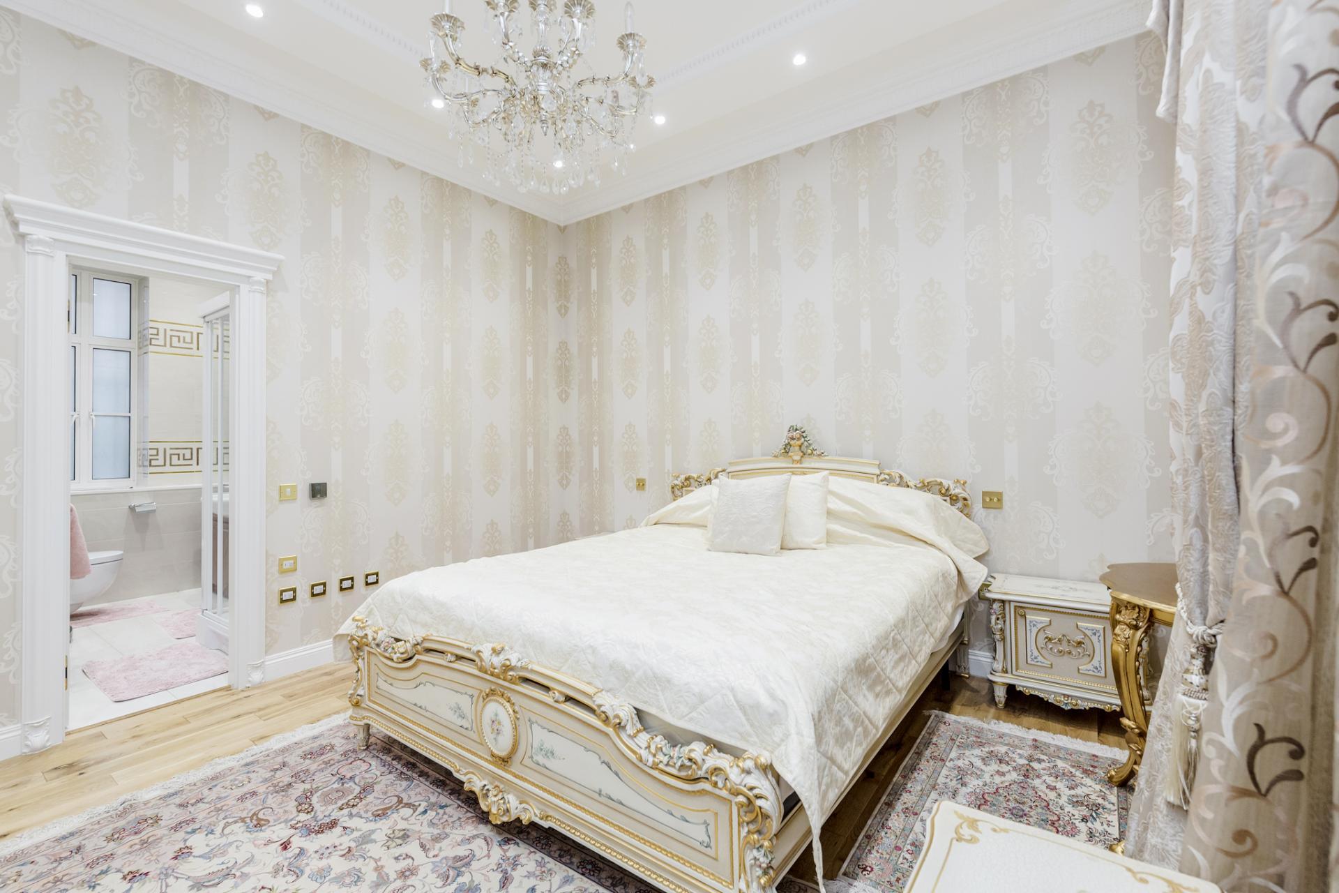Bedroom at Grosvenor Square Apartment, Mayfair, London