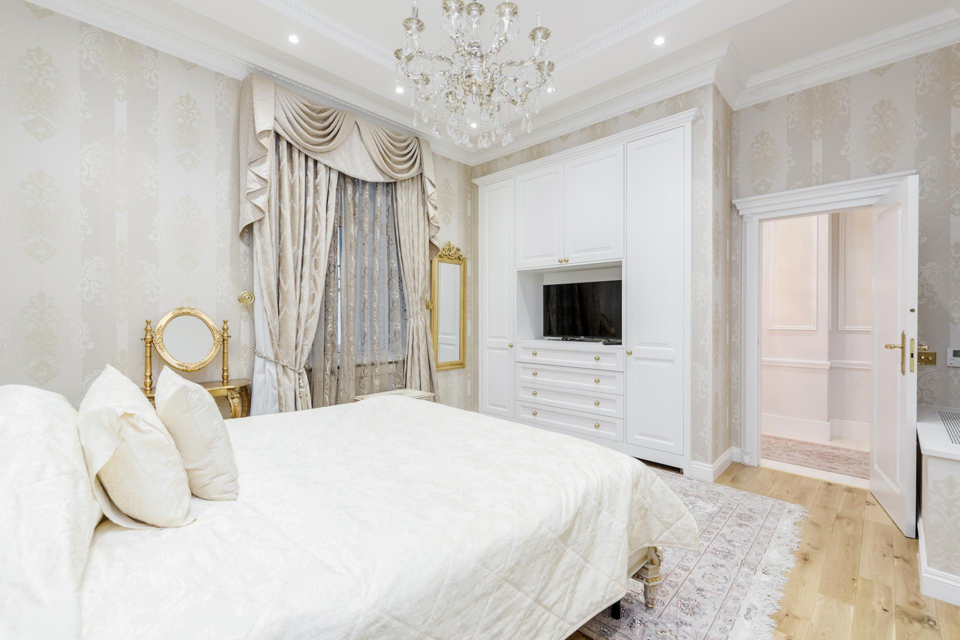 Bed at Grosvenor Square Apartment, Mayfair, London