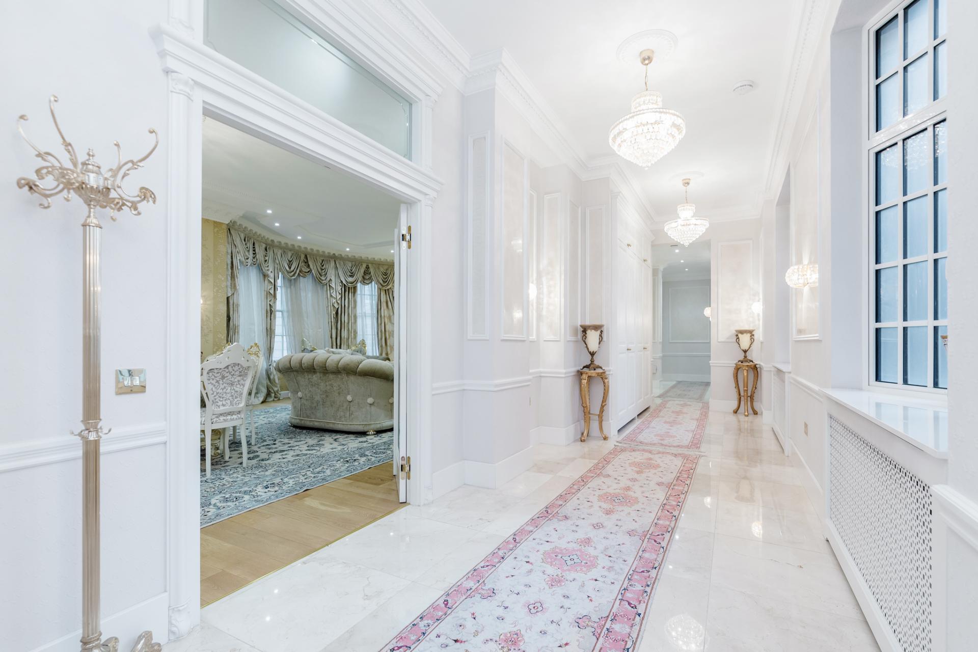 Hallway at Grosvenor Square Apartment, Mayfair, London