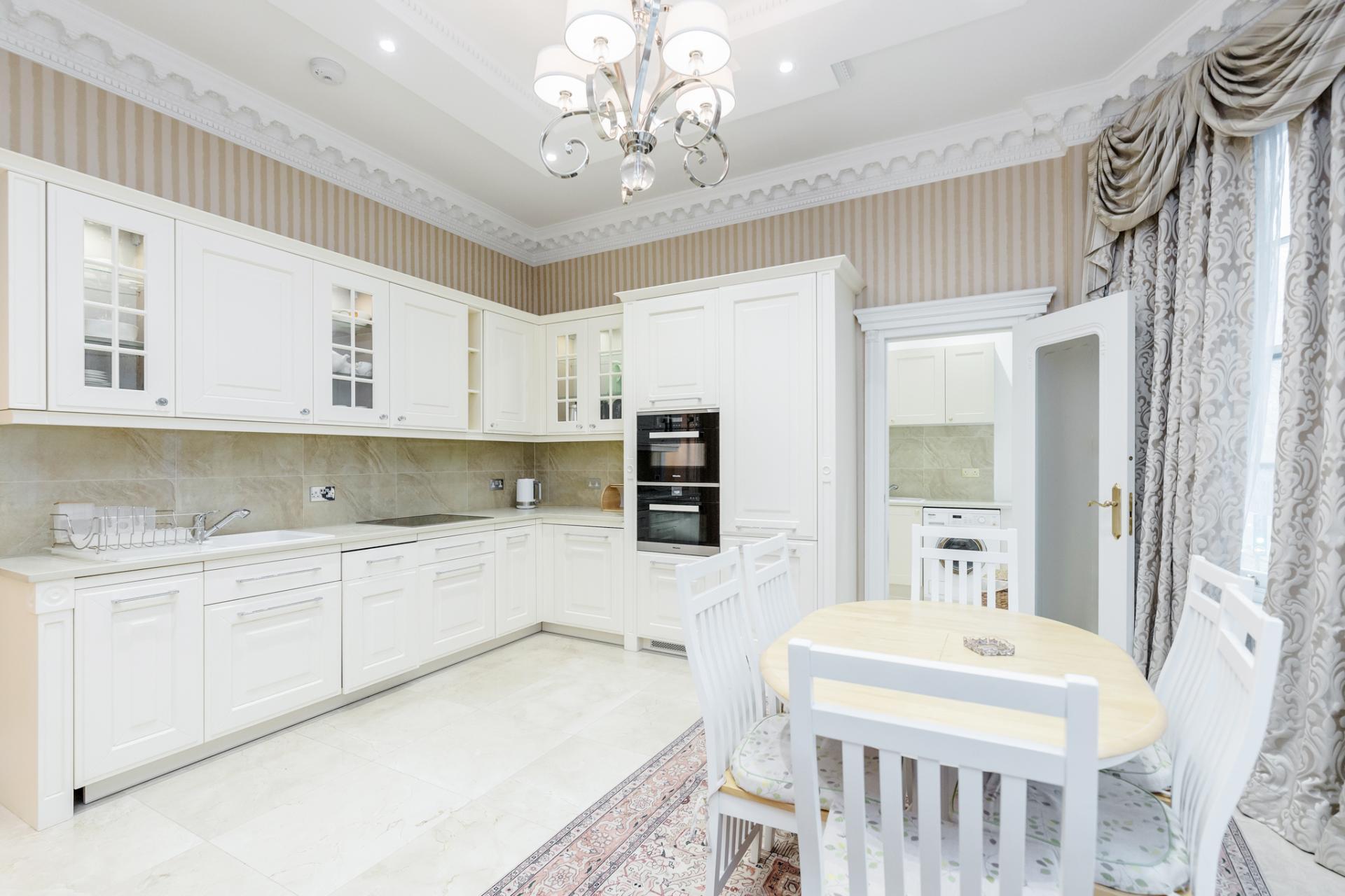 Kitchen at Hallway at Grosvenor Square Apartment, Mayfair, London